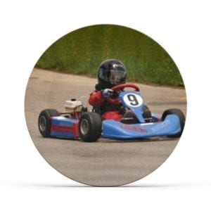 Collectable Kids Go Kart Plate