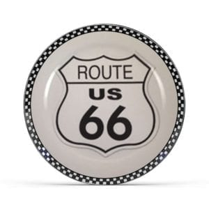 Route 66 Plate (B & W)