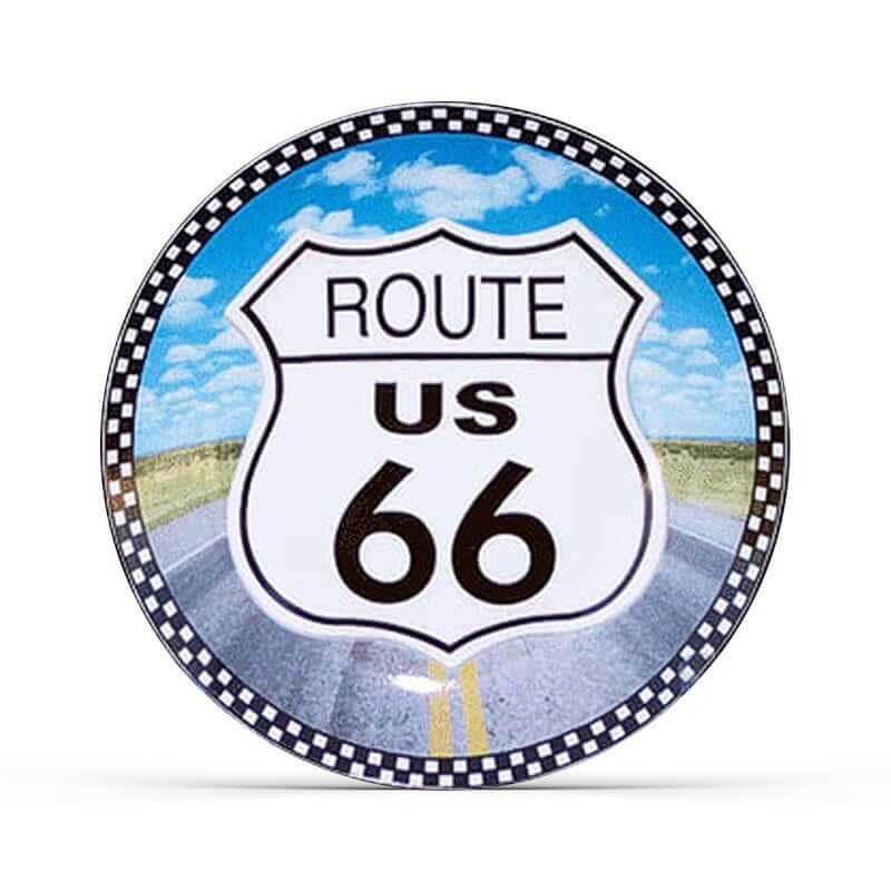 Route 66 Plate (Color)