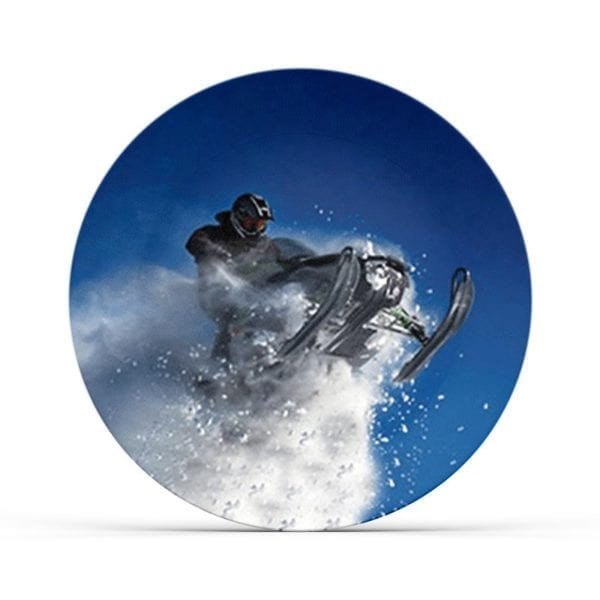 Collectable Snowmobile Plate